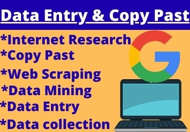 I Will Do Data Entry and Copy Past