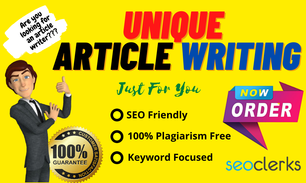 Write a unique article on your blog or website including 600 words