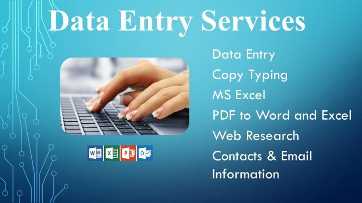 I will do Excel and MS Word Data Entry,  Copy Paste and Typing for you