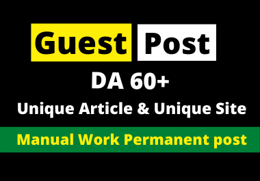 Write and Publish 5 Guest Post On High Authority Websites With Content