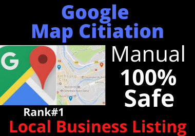 Manual 150 Google Maps Citation Must rank yours google business page,  local SEO,  business listing.