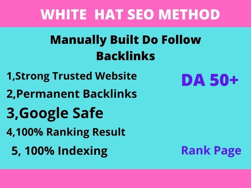 I will create high quality white hat SEO do follow backlinks