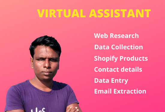 I will be your virtual assistant and web research