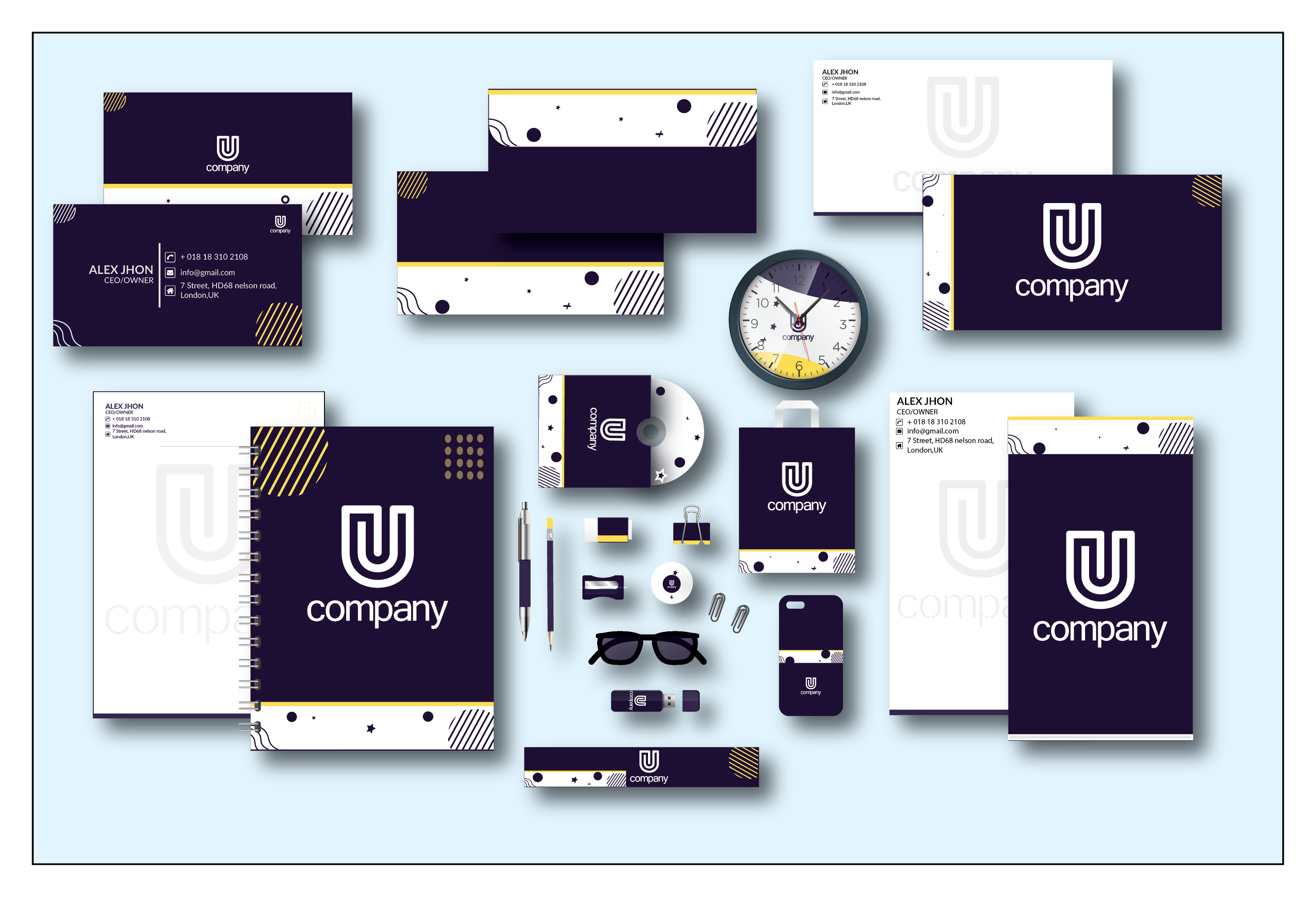 I Will design professional business card and stationery.