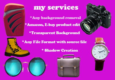 I will professionally remove background,  retouch and resize 5 images