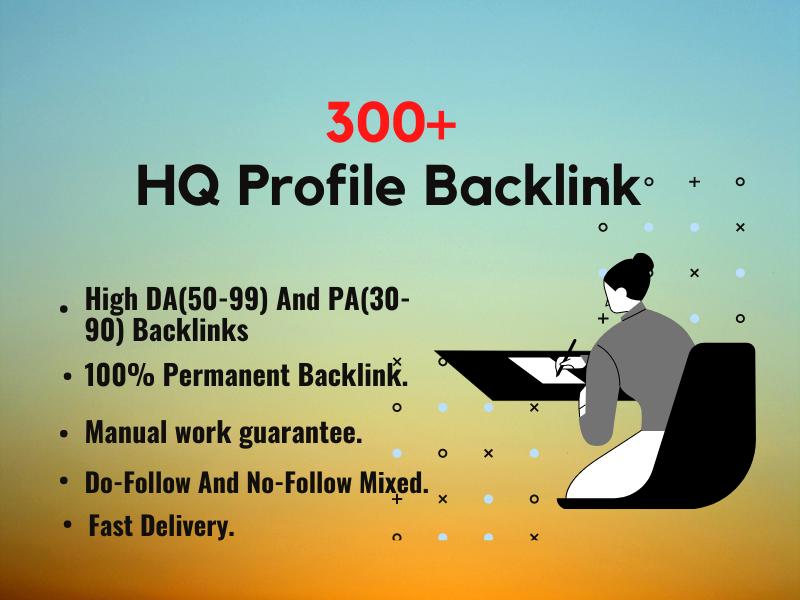 300+ High Authority SEO Profile Backlinks.