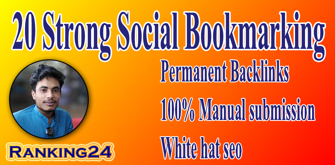 I will do best social bookmarking to create dofollow SEO backlinks for google top ranking