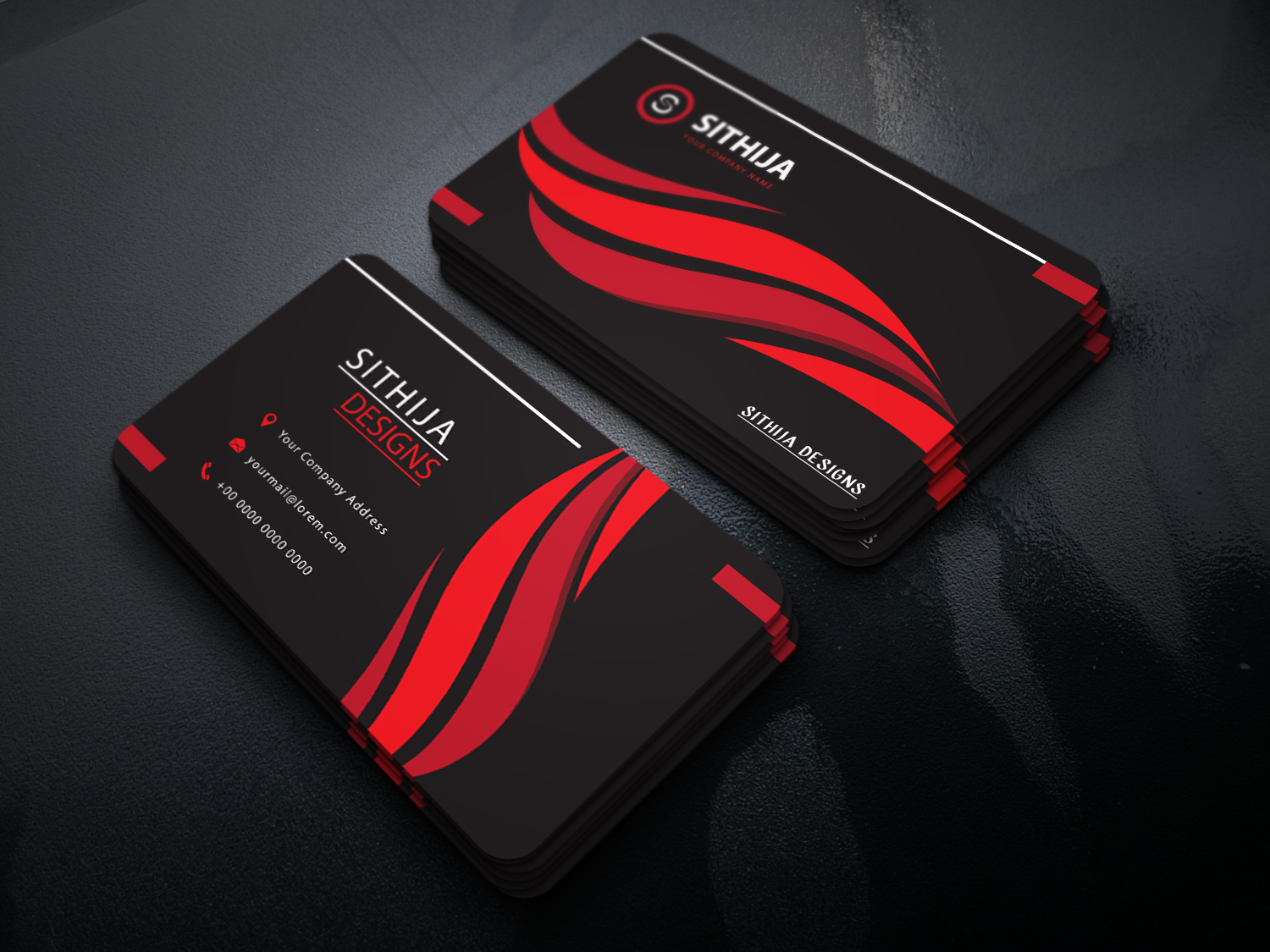 I will design professional creative and luxury business card Designs