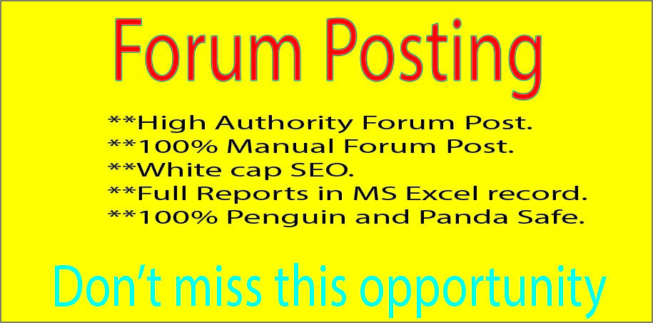 I will give 30 High-Quality Forum Posting Backlinks Best for your SEO