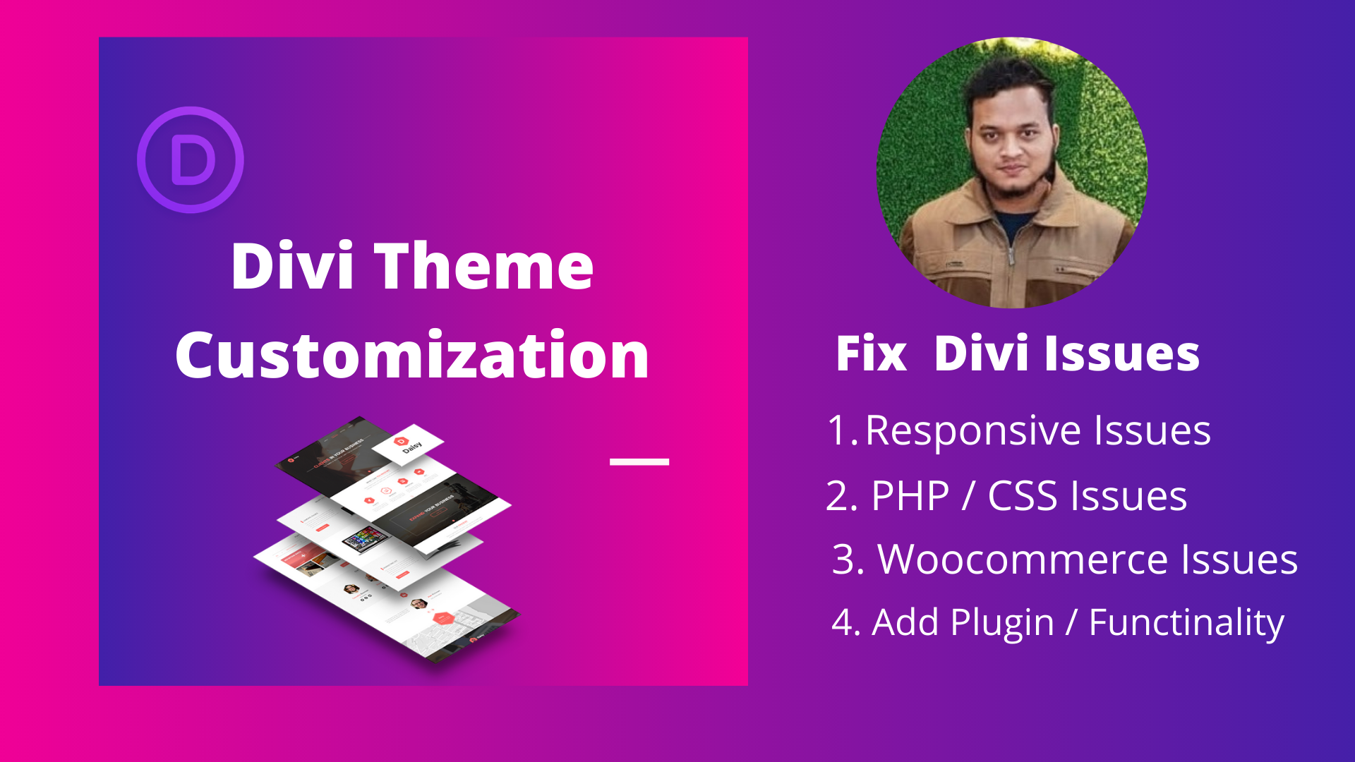 I will do Divi theme customization and fix Divi theme issues