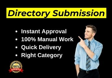 Manually 40 Live Web Directory Submissions on Instant Approve directories