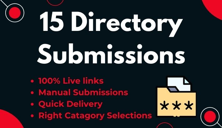 15 Manual Directory Submission with Insatant Approval live links from authority web directories