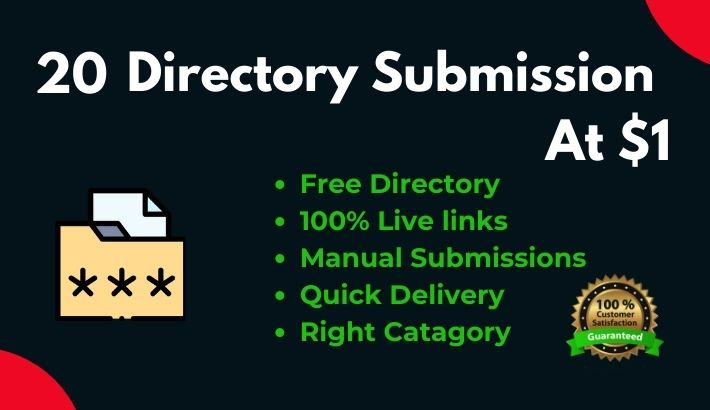 Instant 20 Directory Submission live links Manually on authority directories