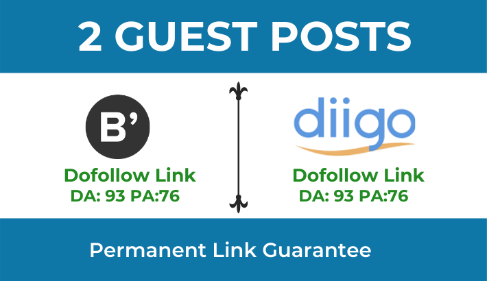 Write & publish High Quality 2 Dofollow Guest Post on Bloglovin & Diggo. com - DA 93