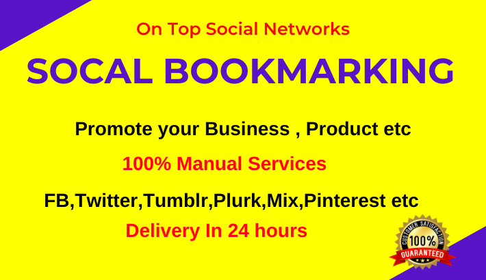 80 Social media Bookmarking on high quality bookmarks/ sharing sites