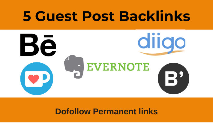 Write and publish 5 Dofollow Guest Post on High Authority websites -DA 80+