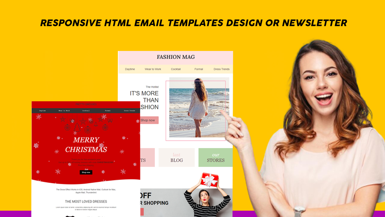 I will create responsive HTML Email Template or Newsletter