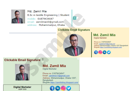 I will design clickable professional HTML Email Signature