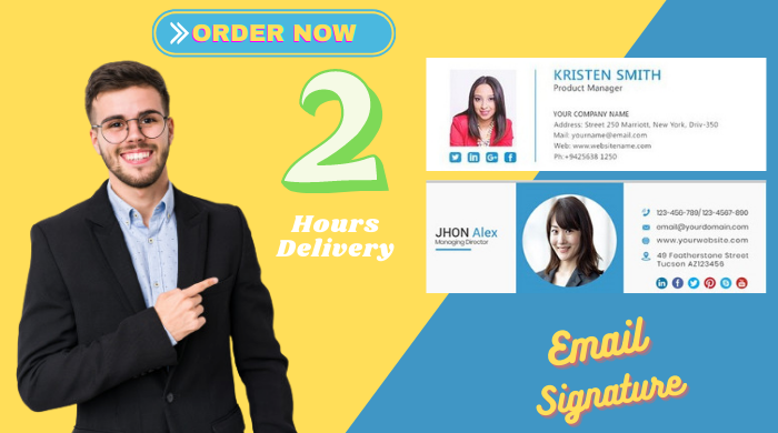 I will design clickable professional HTML Email Signature