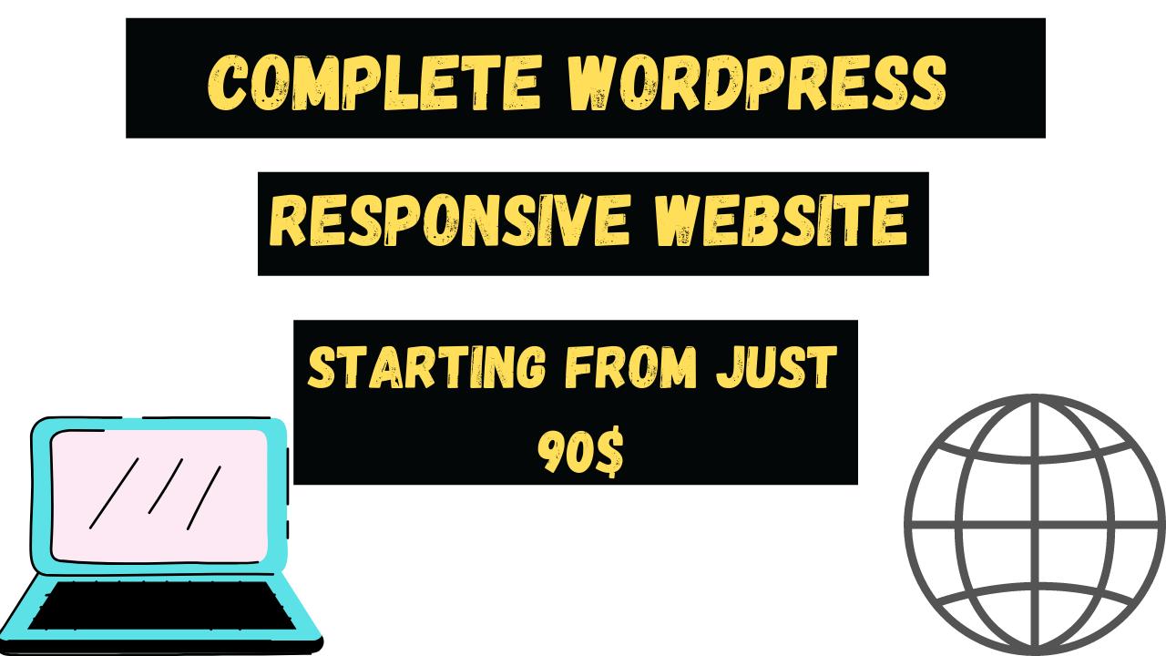 I will do responsive and eye catching wordpress website design,  wordpress website