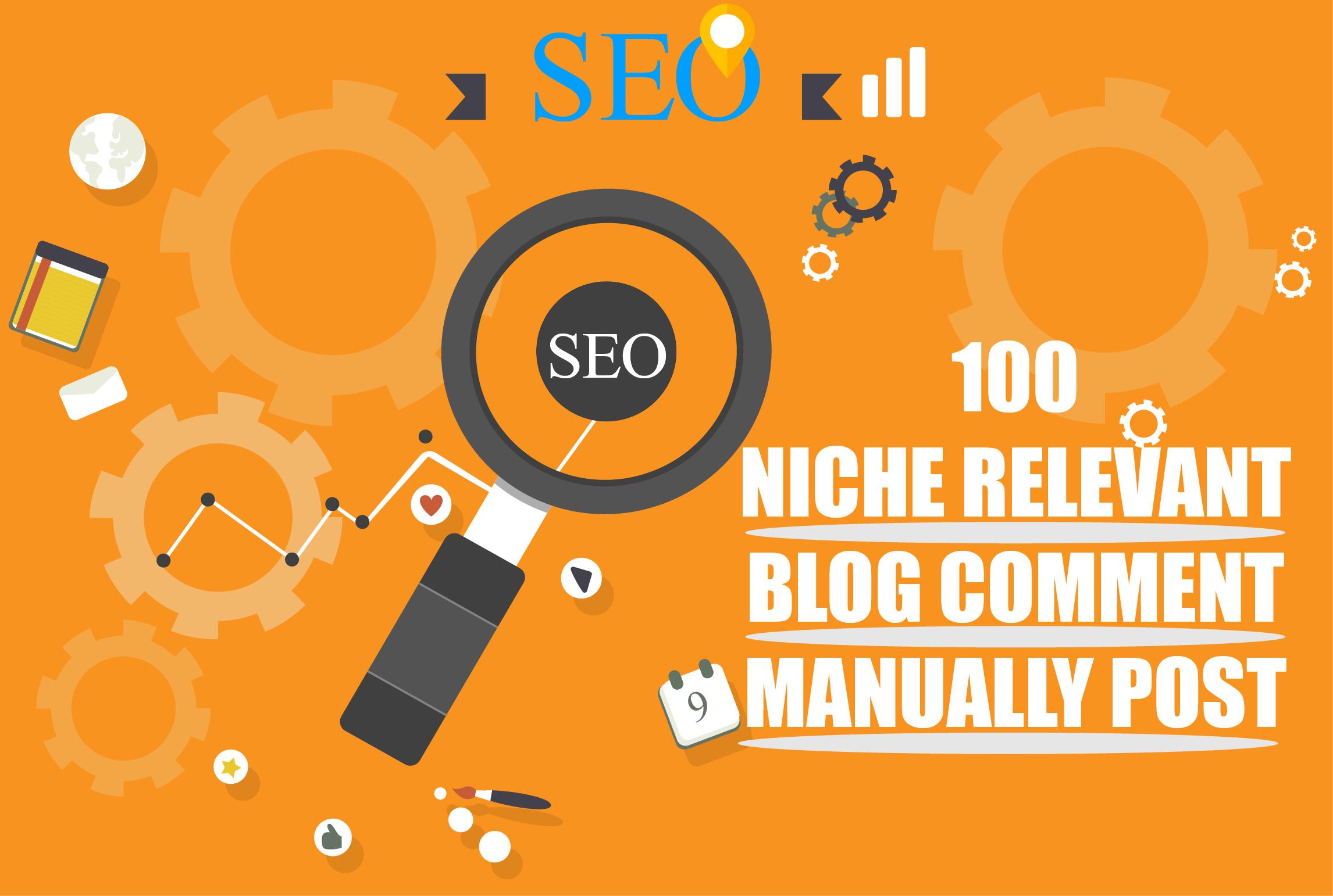 Creats 100 Unique Domains Niche Relevant Blog Comment