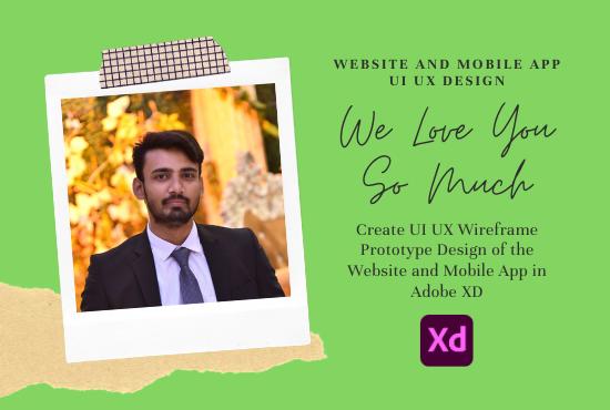 I will design website and mobile app UI UX design in adobe xd