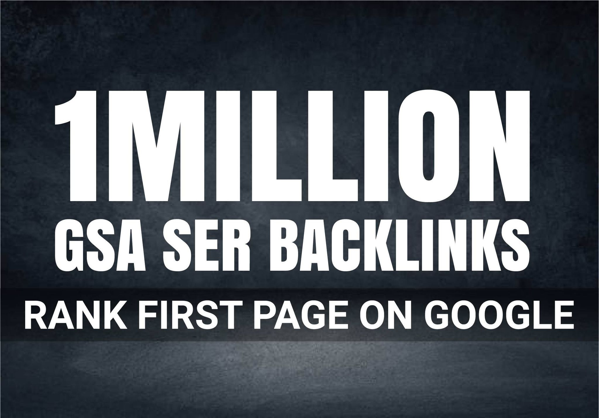 I will provide 1M GSA Ser Backlinks Verified Quality