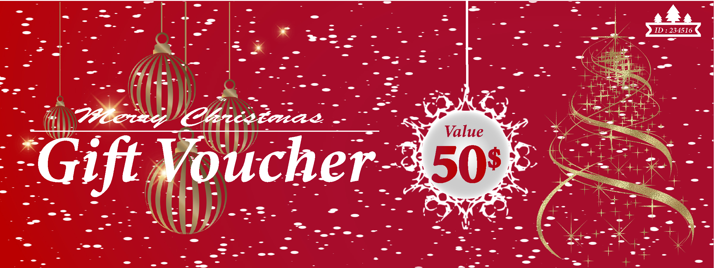 I will design a Christmas gift voucher,  card,  poster or a leaflet