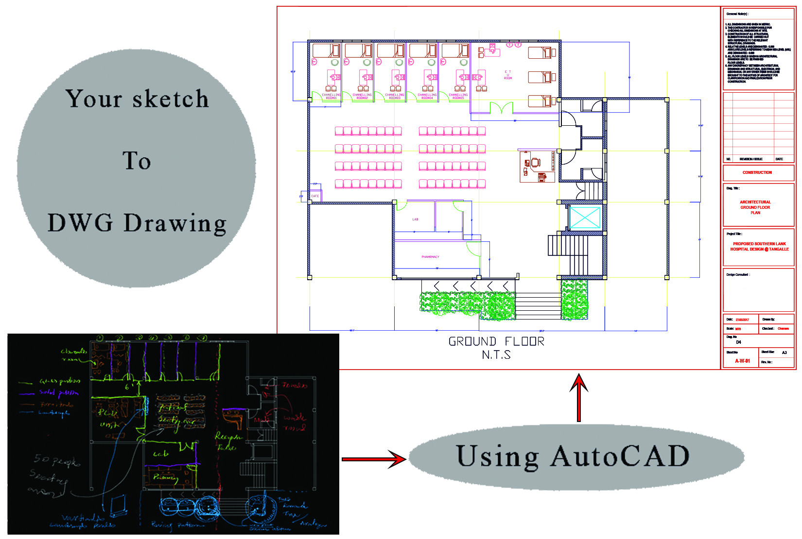 I will draw 2D architecture floor plan and landscape plan in AutoCAD drawings