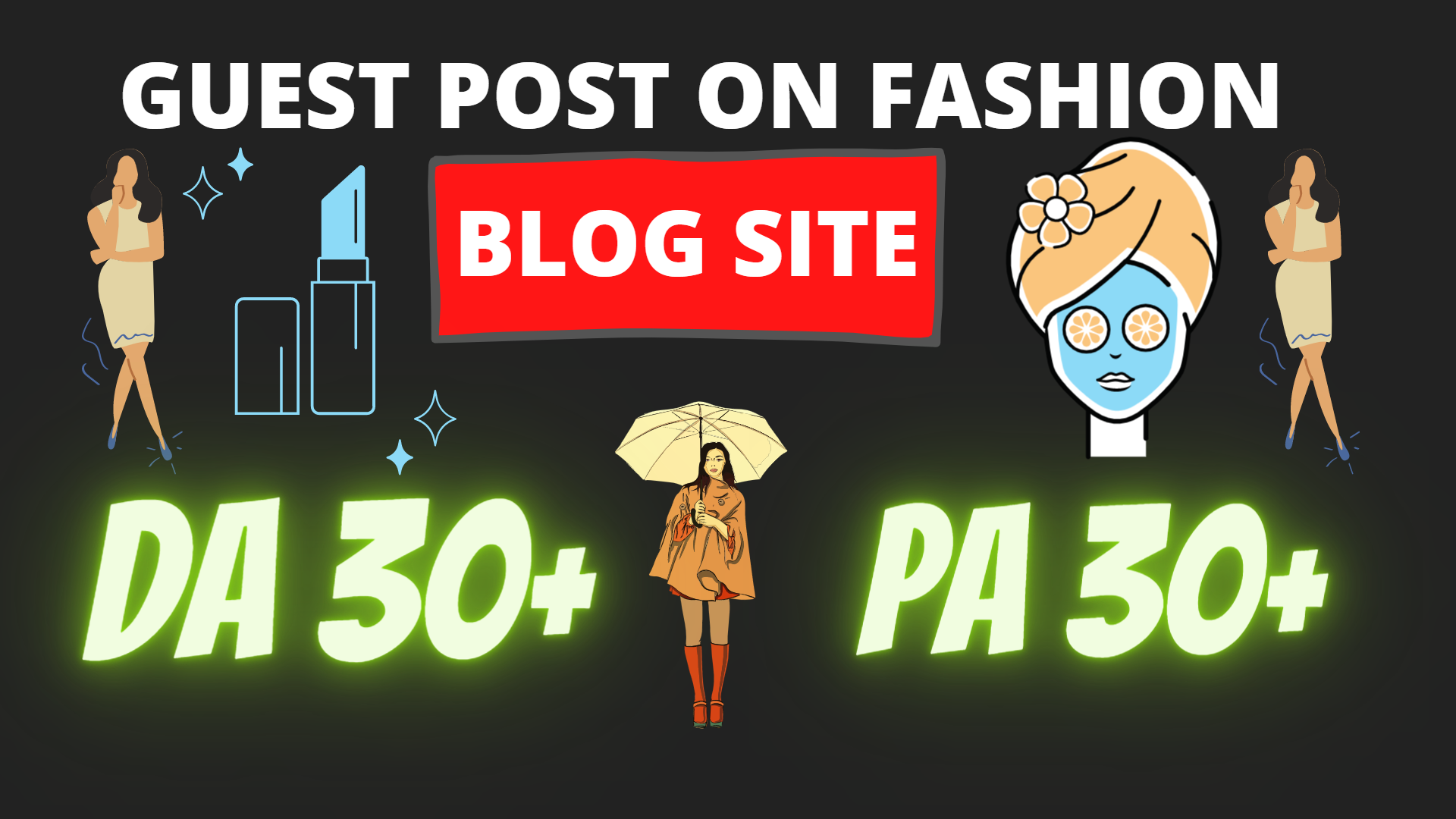 I will do a guest post on a fashion blog