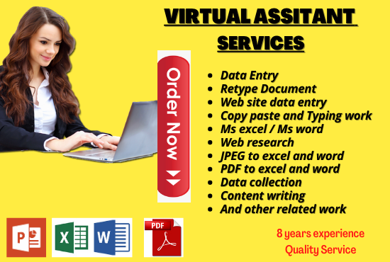 I will do data entry, copy paste, excel data entry and any typing works
