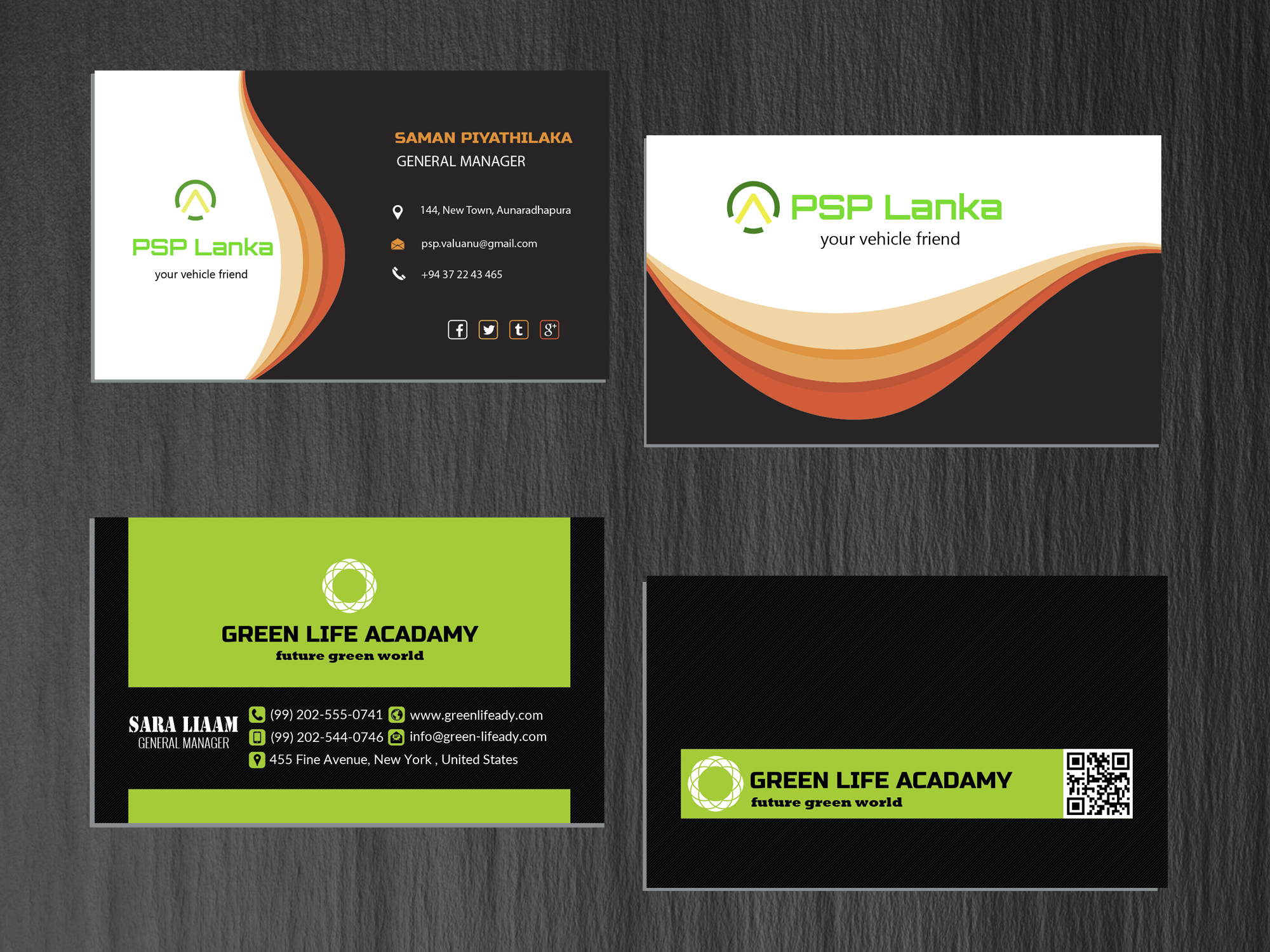 I will create unique business card for you
