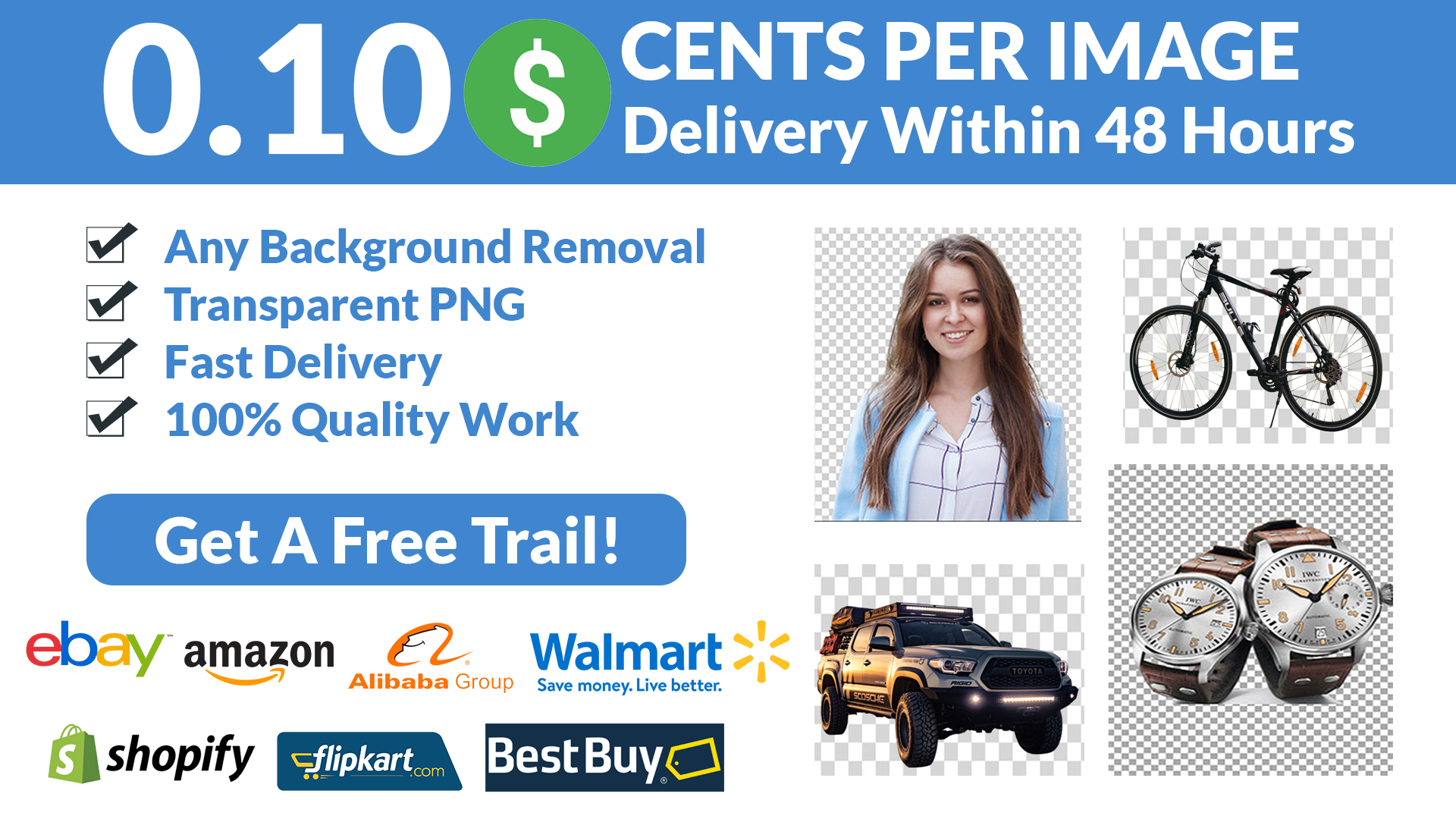 150 Image Background Remove in 48 Hours