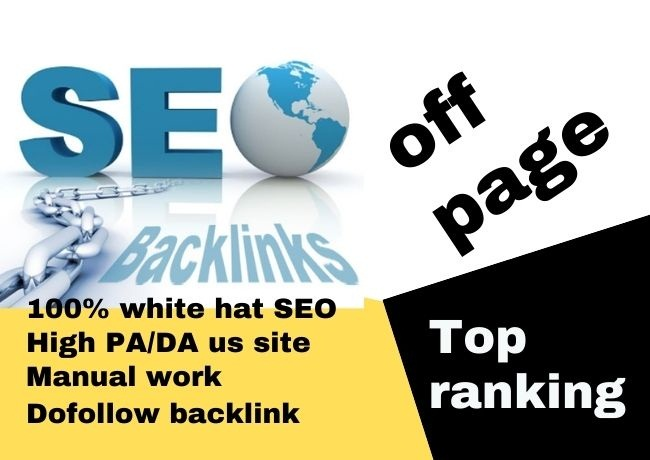 I will do high authority quality backlinks for offpage SEO services.