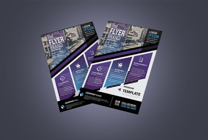 I will do create beautiful flyers posters and brochures