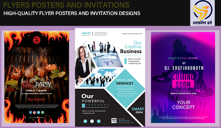 I will create a professional flyer,  poster for your business