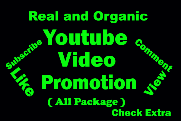 HQ All Package Safe & Secure YouTube Video Promotion and Social Media Marketing with Genuine Visitor