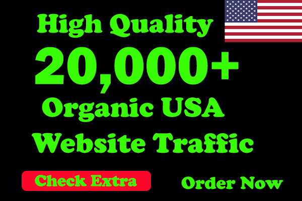 I will be able to Drive 20,000 USA Keyword Targeted Low Bounce Rate Traffic To Your Website.