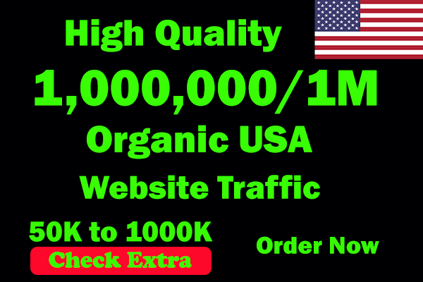 I will be able to Drive 1 Million USA Keyword Targeted Low Bounce Rate Traffic To Your Website.