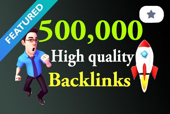 I will creat 500k/5, 00,000 high quality GSA rank booster backlink