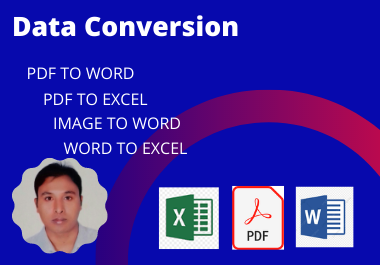 I will convert your data pdf to word,  word to excel accurately