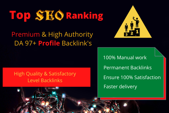I Will Create 100 High Authority Profile Backlinks for SEO