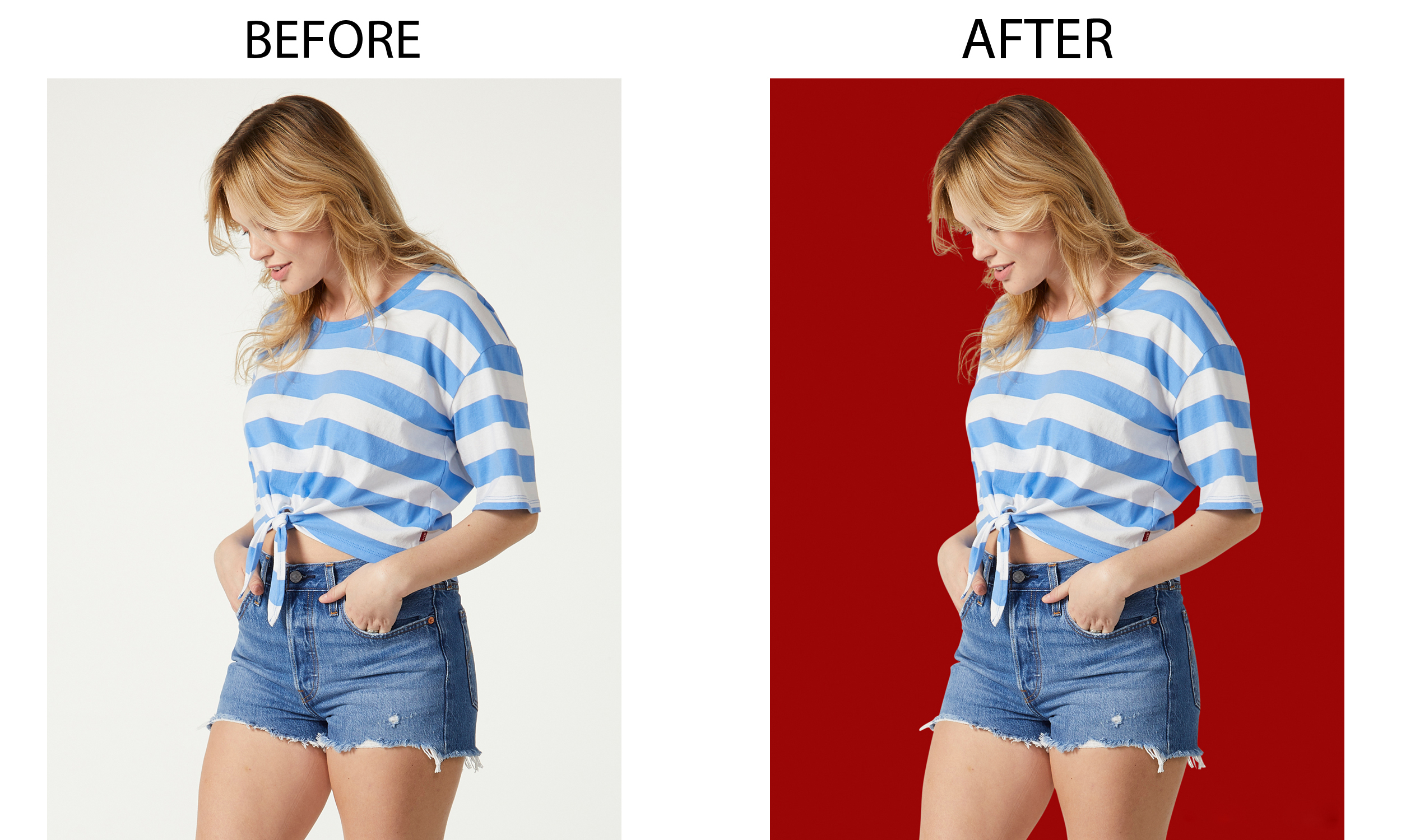 I will do background removal, photoshop work, cut out from images