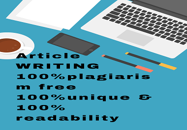 I will write best article writing