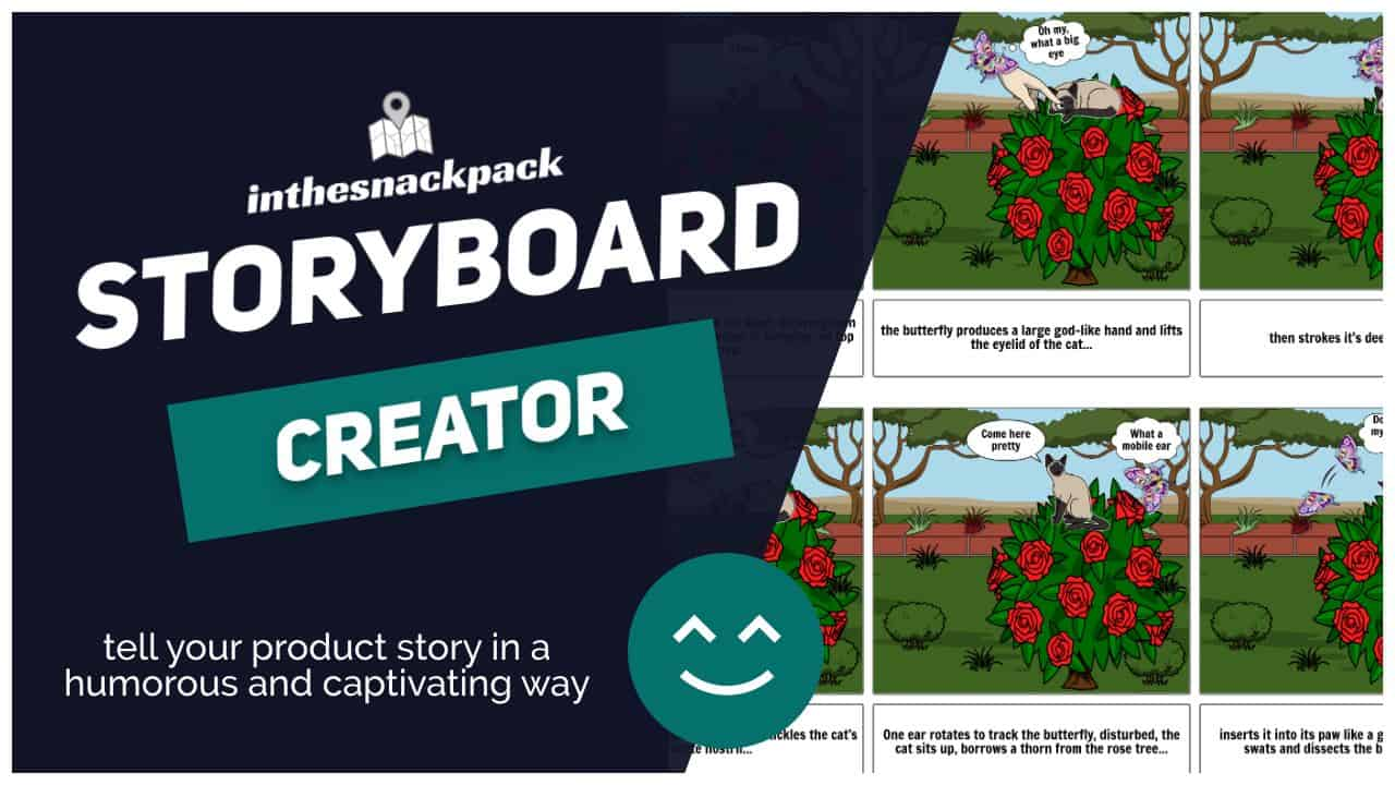 I will create a captivating and humorous storyboard up to six frames for your brand