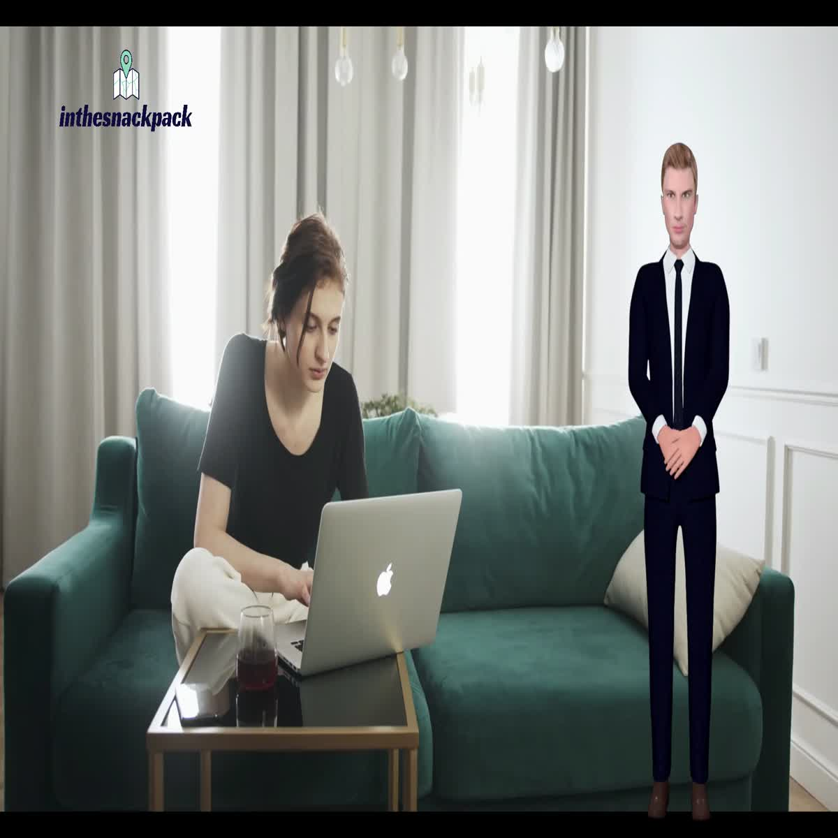 I will create your 1 minute explainer video with 3d avatar and text animations