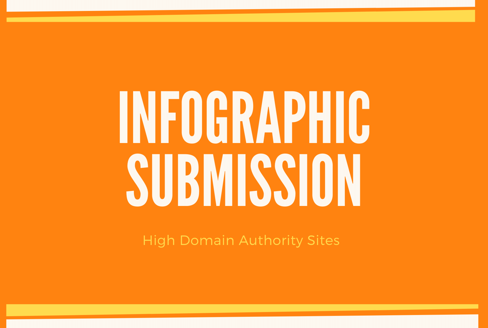 I will do manual infographic submission in 50 high domain authority sites.