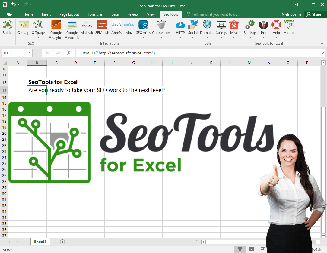 I will give SeoTools for Excel