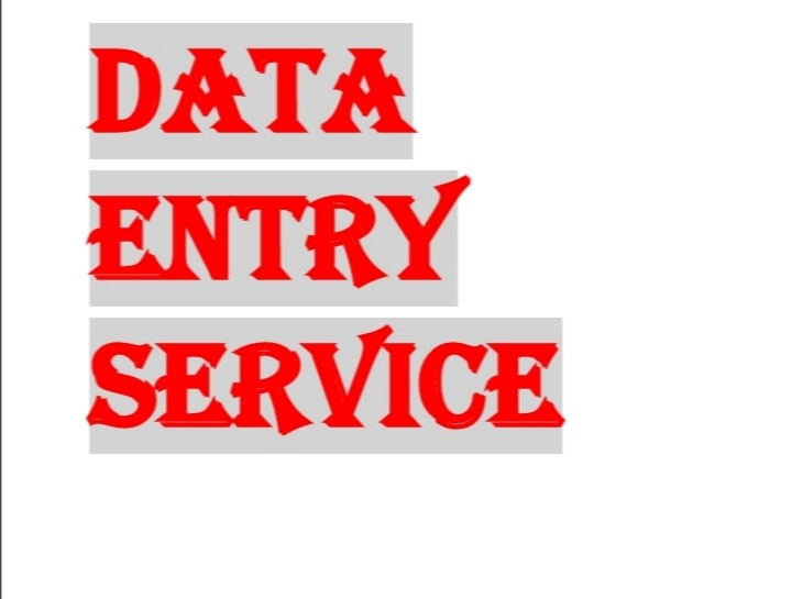 Are you looking for a data entry