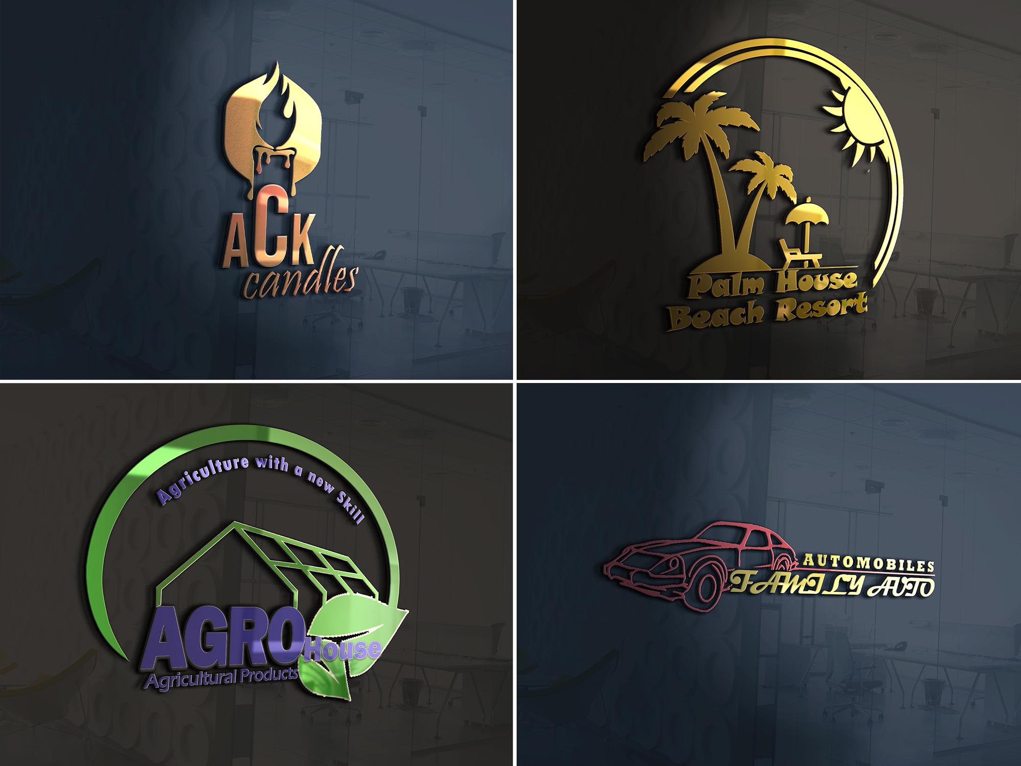 I will do amazing 3d, versatile logo design